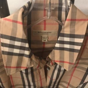 Burberry button Down ladies  shirt